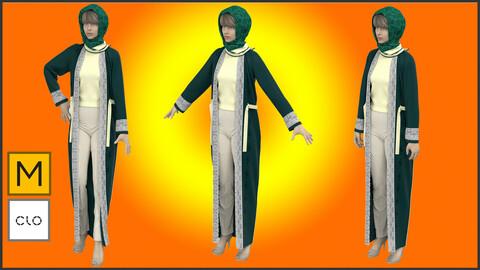 Cloak Female Modern Abaya