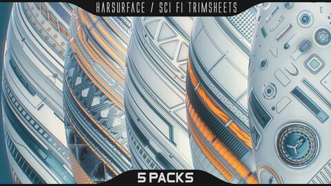 Hardsurface / Sci fi Trimsheet Pack