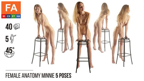 Female Anatomy | Minnie 5 Various Poses | 40 Photos