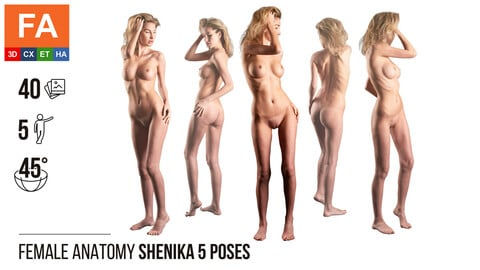 Female Anatomy | Shenika 5 Various Poses | 40 Photos