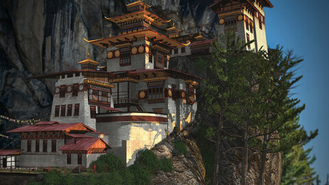 Tiger_nest monastery Bhutan ( for Sale)