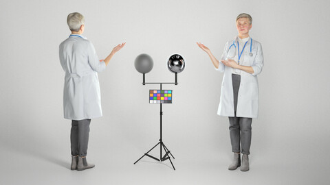 Female doctor demonstrating smth 263