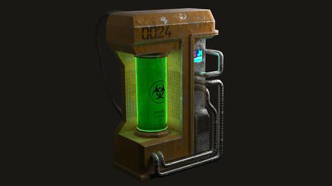 Biohazard Backpack • Game ready 3D asset