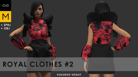 Royal clothes #1 | Clo3d, Marvelous designer projects