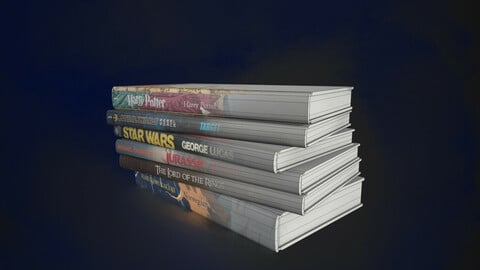 Fantasy Books low polygonal - collection N1