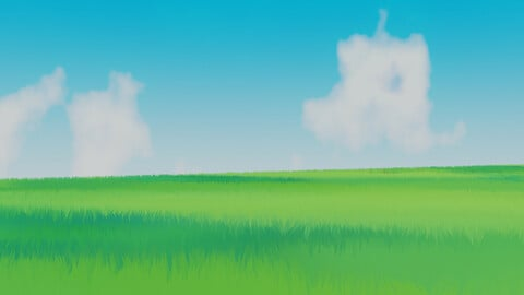 Anime / Toon - Grassfield Landscape