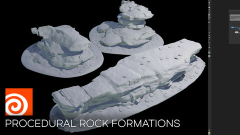 Houdini Procedural Rock Formation