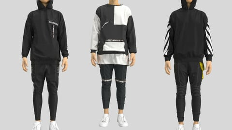 Male Outfit . Marvelous Designer + Clo3D