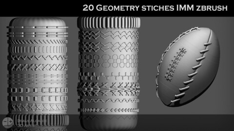 🧵 🧶 20 Geometry STICHES IMM {BRUSHES} Zbrush !