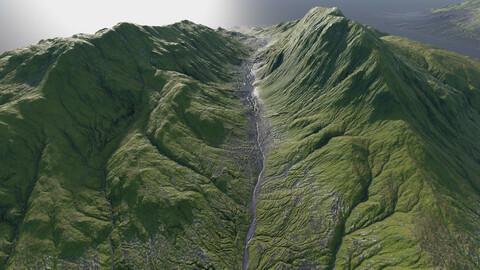 8 Icelandic Mountains - Model Pack