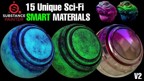 15 Unique Sci-Fi Smart Materials V2. [ Last Sale Day ] 🌟