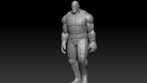 Thanos - Animated Rigged character