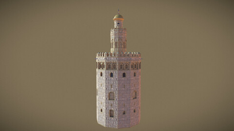 Torre Del Oro - Stylised 3D Model