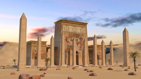 Egyptian Pharonic Gate Temple