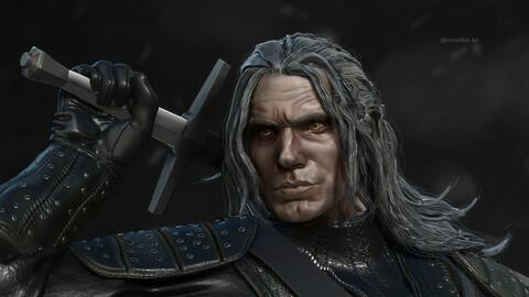 Geralt of Rivia Henry Cavill 3D printing