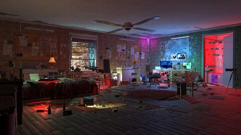 Sniper Room Interior bedroom