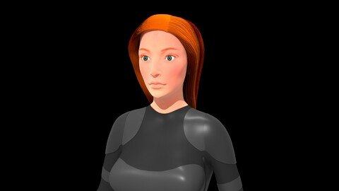 Mara Jade Skywalker Character 3D Model Zbrush and Maya