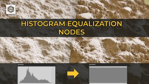 Histogram equalizer | 3 nodes | Substance Designer
