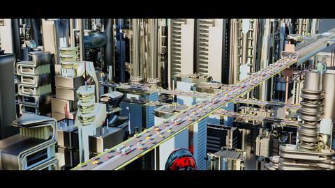 Futuristic-Car-Roads-City v2