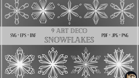 Art Deco Snowflakes Bundle