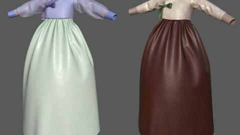 3D Modern Hanbok for game or film