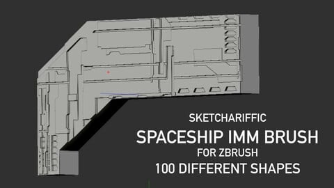 ZBrush Spaceship IMM Brush - 100 shapes