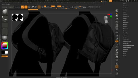 bag high poly stylized for video game