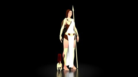 Athena Goddess of Wisdom Character 3D Model Zbrush and Maya