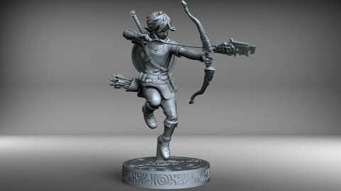 Link statue 25cm SLA resin print version. THE LEGEND OF ZELDA BREATH OF THE WILD