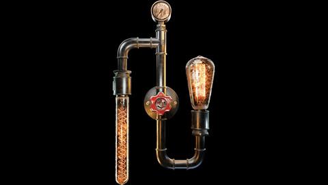 Edison Filament Bulb Wall Lamp