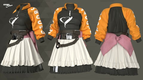 Sci-Fi Fantasy Wear 03 - 63 Marvelous Designer and Clo3D
