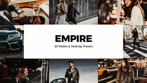 20 Empire LUTs and Lightroom Presets