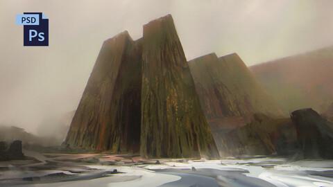 PSD Surreal Fantasy Landscape