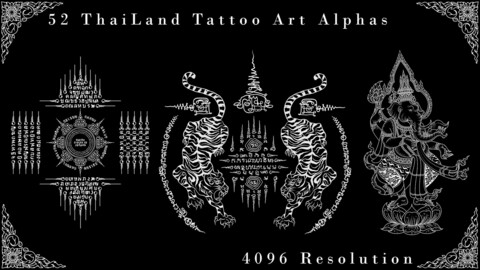 Vol . 12 - 52 Thailand Tattoo Art - Alpha