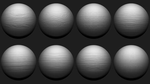 Zbrush - Wood Surface Tileable Brushes