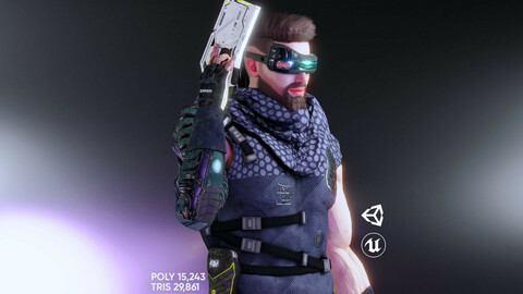 Sci Fi Cyberpunk Action Male-Ednar Cylo