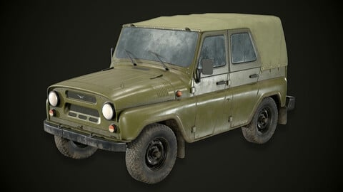 UAZ Hunter Game-Ready Real-Time