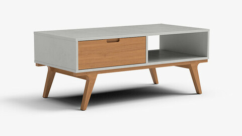 Abril coffee Table white finish