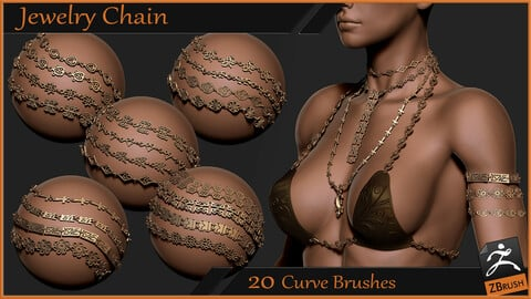 Jewelry Chain Curve Brushes