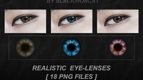 Contact Lenses by Blackironcat [ 18 PNG files ]