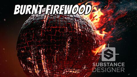 Burnt Firewood in Substance Designer