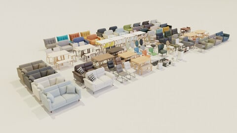 Package of 100 models furniture part 1