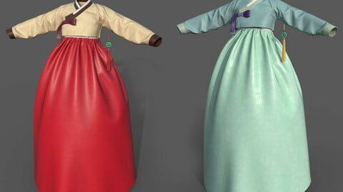 3D Traditional Hanbok for game or film