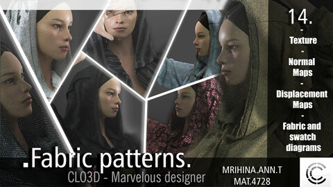 14 .Fabric patterns. CLO3D + MD