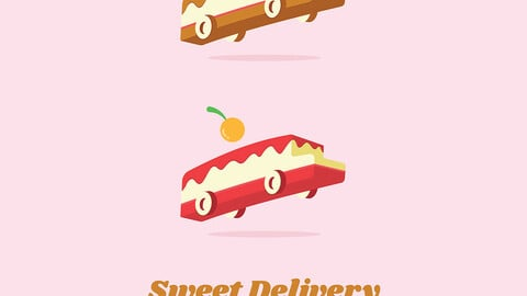 Sweet Delivery Logo Example Logo Vector