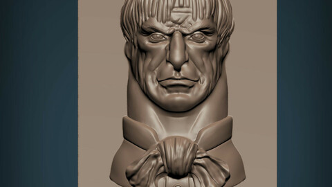 Haunted Mansion Uncle Lucius Staring Bust 3D print model