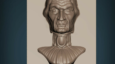 Haunted Mansion Aunt Lucretia Staring Bust 3D print model