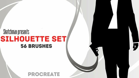 Silhouette Set - 56 brushes for Procreate