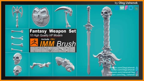 IMM Brush Fantasy Weapon Set
