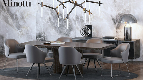 Coleccion 4- Table and Chairs 3d